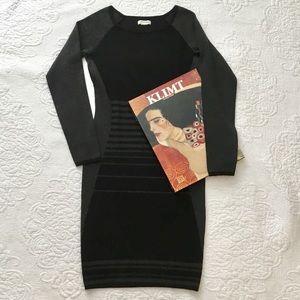 Max Studio Black/Charcoal Sweater Dress